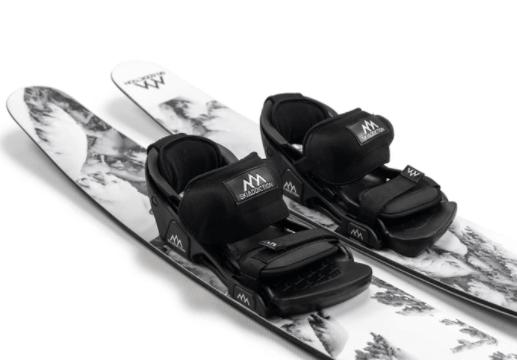 photograph of skis with bindings