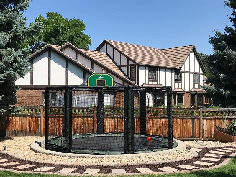 above ground trampoline
